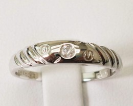 18k White Gold Ring with Solitaire Diamond 0.03ct. - SALE