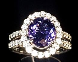 2.98ct Cobalt Spinel Ring