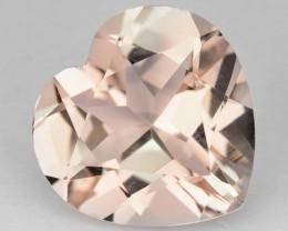 ~HEARTY~ 1.49 Cts Natural Light Pink Morganite Heart Cut Brazil