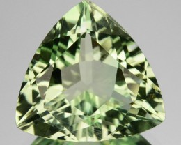5.82 Cts Natural Prasiolite / Mint Green Amethyst Trillion Cut Brazil