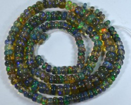 49.39Cts  Multi Colour Smoked Opal Beads 43cm