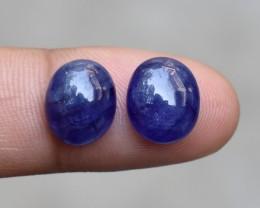 SAPPHIRE PAIR CABOCHON  Natural Genuine Sapphire  VA633