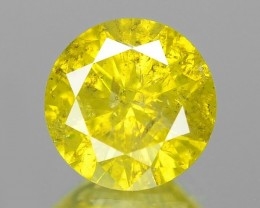 Natural Yellow Diamond - 0.64 ct - Low Reserve