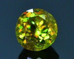 Rare AAA Fire 1.04 ct Chrome Green Sphene Sku-18