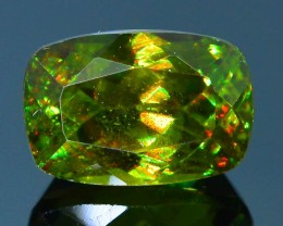 Rare AAA Fire 1.21 ct Chrome Green Sphene Sku-18