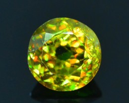 Rare AAA Fire 1.10 ct Chrome Green Sphene Sku-18