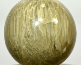 52mm Natural Chrysoberyl Cat's Eye Crystal Sphere - India (STCCB-NN91)
