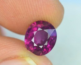 Rarest 2.90 ct Pyrope Almandine Grape Garnet one of a Kind Fire Mozambique