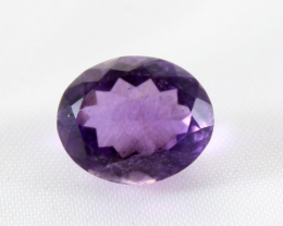 6.95 Crt Natural Purple Amethyst Faceted Gemstone 01