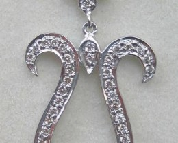 14ct. White Gold Diamond Pendant - SALE
