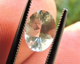 1.05ct OVAL FACETED TANZANIAN GREEN FELDSPAR GEMSTONE