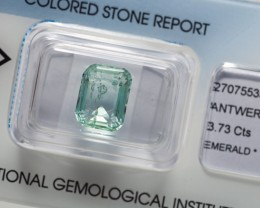 IGI Certificate Natural Emerald 3.73 ct