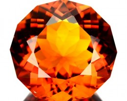 ~JEWELRY GRADE~ 9.04 Cts Natural AAA Golden Orange Citrine Fancy Brazil