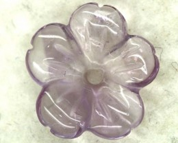 3.35 CTS -AMETHYST FLOWER CARVING GEM GRADE  LT-872