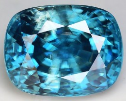 8.09 Cts Blue Zircon Awesome Color ~ Cambodia M13