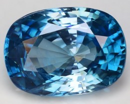 8.19 Cts Blue Zircon Awesome Color ~ Cambodia M12
