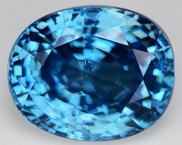 6.73 Cts Blue Zircon Awesome Color ~ Cambodia M15