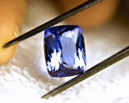 CERTIFIED - 6.13 Carat Purple/Blue African VVS1 Tanzanite - Superb