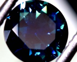 .85CTS- CERTIFIED PARTI SAPPHIRE FACETED GEMSTONE  TBM-1560