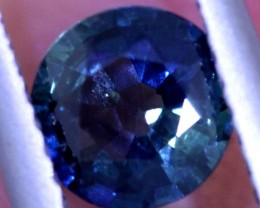 0.89CTS  CERTIFIED PARTI SAPPHIRE FACETED GEMSTONE TBM-1564