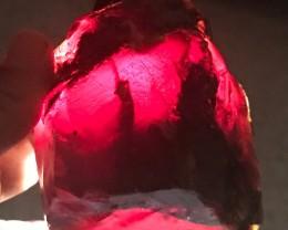 273 gram Indonesian Cherry Blue Amber AAA+ Grade Ultra-Rare Color