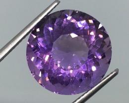 10.16 Carat VVS CERT. Amethyst  Unheated  Spectacular Deep Purple !