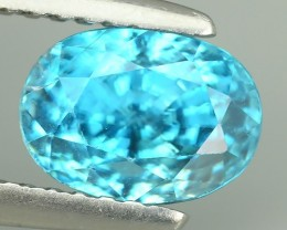 2.70 CTS DAZZLING NATURAL RARE TOP LUSTER INTENSE BLUE ZIRCON