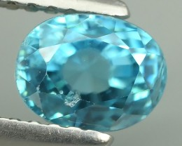 2.15 CTS EXTREME OVAL SHAPE NATURAL BLUE ZIRCON POPULARGEMS