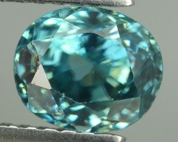 2.30 CTS DAZZLING NATURAL RARE TOP LUSTER INTENSE BLUE ZIRCON
