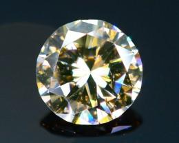 Certified  0.80 ct Untreated  White Color Diamond  SKU 6
