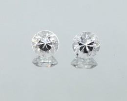 2.64 Carat Zircon Diamond White Pair - Precision Cut - Quality !