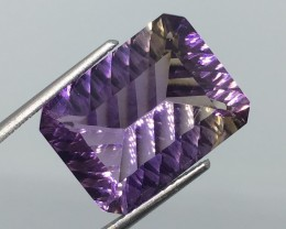9.80 Carat VVS Ametrine - Custom Concave Cut - Unheated - Out of This World