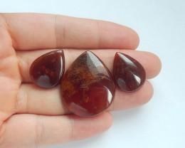 61ct Natural garnet cabochon bead semi-precious stone(18091638)