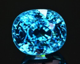 GIL Certified 9.81 Ct Ravishing Luster Natural Vibrant Blue Zircon