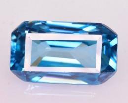 GIL Certified 10.73 Ct Ravishing Luster Natural Vibrant Blue Zircon