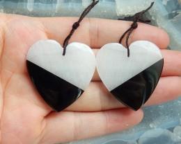 New 76.5ct  obsidian ,crystal intarsia semi-precious stones(18091665)