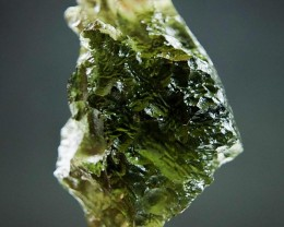 Shiny Natural Raw Moldavite  quality A+ with Olive green color