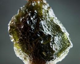 Shiny 100% authentic Moldavite - Uncommon shape CERTIFIED