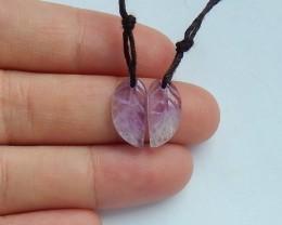 6ct Natural amethyst earring beads semi-precious stones (18091661)