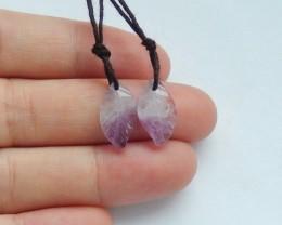 7ct Natural amethyst earring beads semi-precious stones (18091668)