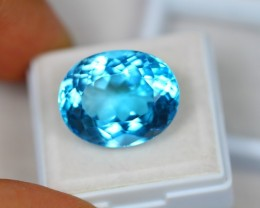 24.20Ct Swiss Blue Topaz Oval Cut Lot LZB455