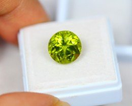 5.86Ct Green Peridot Round Cut Lot LZ1396
