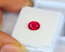 2.05Ct Blood Red Color Ruby Oval Cut Lot A58