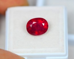 5.06Ct Blood Red Color Ruby Oval Cut Lot A65