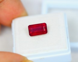 Black Friday 3.25Ct Blood Red Color Ruby Octagon Cut Lot A78