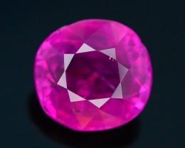 Gil Certified AAA Grade 1.58 ct Unheated Pinkish Red Ruby~Burma SKU-5