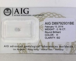 Certified Brilliant Cut Diamond 0.16ct.