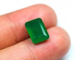 4.63Ct Natural Emerald Cut Green Onyx