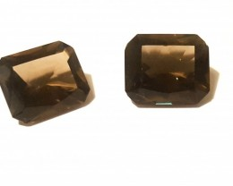 22.85 CTS - Smokey Quartz Pair - VVS - Untreated
