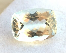 6.79 Carat Aquamarine -- Nice Cushion Checkerboard Cut Stone